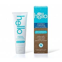 משחת שיניים ללא פלואוריד להלבנה וטיפול בפלאק טעם נענע  133 גרם - מבית Hello