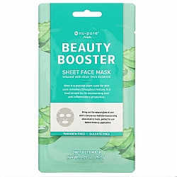 מסכת בד יופי פנים Beauty Booster עם אלוורה 1 יחידה - מבית Nu-Pore