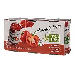 """עגבניות קצוצות מרקדו טייסט שלישיה 1.2 ק""""ג - מבית Mercado Taste"""