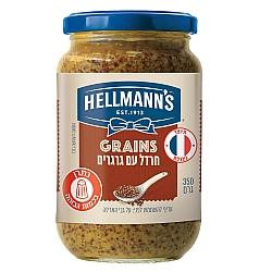 חרדל עם גרגרים הלמנ'ס 350 גרם - מבית HELLMANN'S