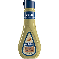 ממרח חרדל בבקבוק לחיץ הלמנ'ס 235 גרם - מבית HELLMANN'S