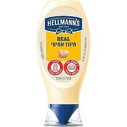מיונז אמיתי בבקבוק לחיץ הלמנ'ס 395 גרם - מבית HELLMANN'S