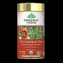 אורגניק אינדיה עלי תה טולסי צ'אי מסאלה 100 גרם - מבית Organic India