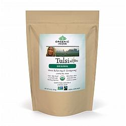 אורגניק אינדיה עלי תה טולסי מקורי נטול קפאין 454 גרם - מבית Organic India