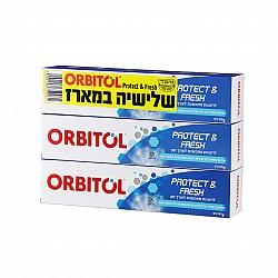 אורביטול משחת שיניים Protect & Freash ללא גלוטן - 3 יחידות