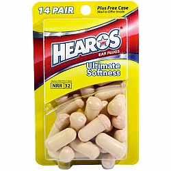 אטמי אוזניים אולטימטיבי רך ורמה גבוה  דגם NRR 32 - מבית Hearos