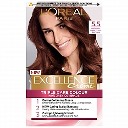 לוריאל אקסלנס קרם צבע שיער קבוע לטיפוח עשיר - בגוון 5.5 חום מהגוני