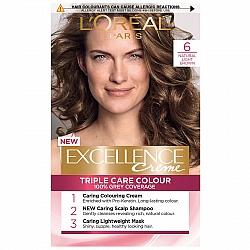לוריאל אקסלנס קרם צבע שיער קבוע לטיפוח עשיר - בגוון 6 בלונד כהה