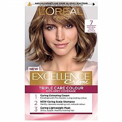 לוריאל אקסלנס קרם צבע שיער קבוע לטיפוח עשיר - בגוון 7 בלונד