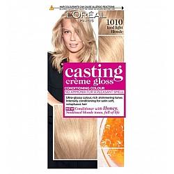 לוריאל קסטינג קרם גלוס צבע שיער ללא אמוניה למראה מבריק ועשיר - בגוון 1010 בלונד סופר בהיר