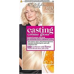 לוריאל קסטינג קרם גלוס צבע שיער ללא אמוניה למראה מבריק ועשיר - בגוון 1021 בלונד בהיר במיוחד