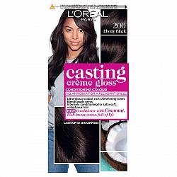 לוריאל קסטינג קרם גלוס צבע שיער ללא אמוניה למראה מבריק ועשיר - בגוון 200 שחור