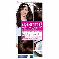 לוריאל קסטינג קרם גלוס צבע שיער ללא אמוניה למראה מבריק ועשיר - בגוון 300 חום כהה מאוד
