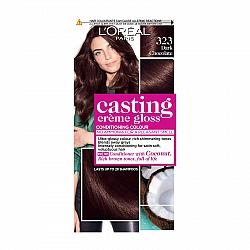 לוריאל קסטינג קרם גלוס צבע שיער ללא אמוניה למראה מבריק ועשיר - בגוון 323 שוקולד כהה