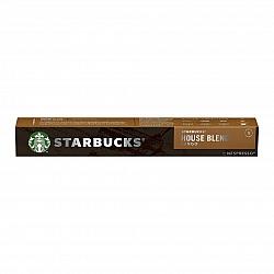 סטארבקס קפסולות קפה האוס בלנד חוזק 8 תואמות נספרסו אספרסו - 10 קפסולות - מבית Starbucks