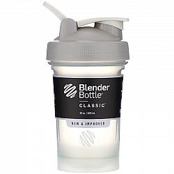"""בלנדר בוטל שייקר קלאסי באיכות גבוהה כדורים עם קפיץ - אפור - 590 מ""""ל - Blender Bottle"""