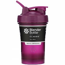 """בלנדר בוטל שייקר קלאסי באיכות גבוהה כדורים עם קפיץ - צבע שזיף - 590 מ""""ל - Blender Bottle"""